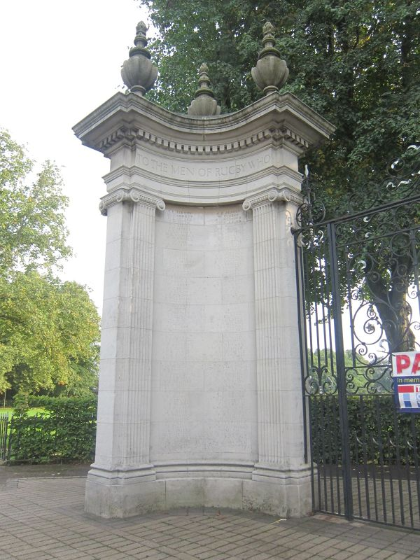 Rugby's War Memorial Gate's