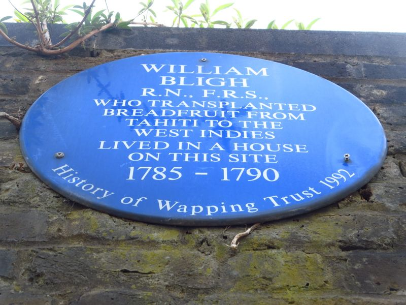 Blue plaque in Wapping