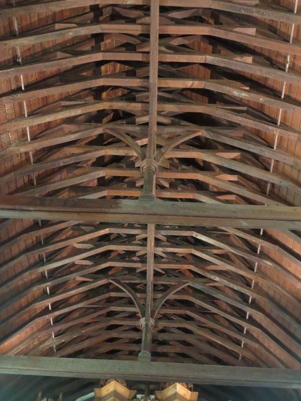 The barrel-shaped roof