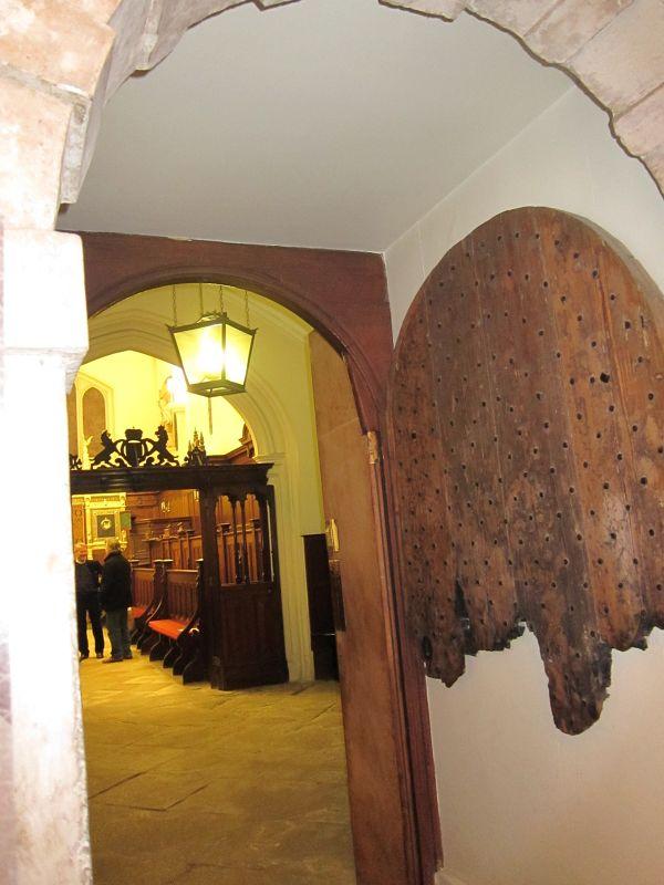 half burnt oak door