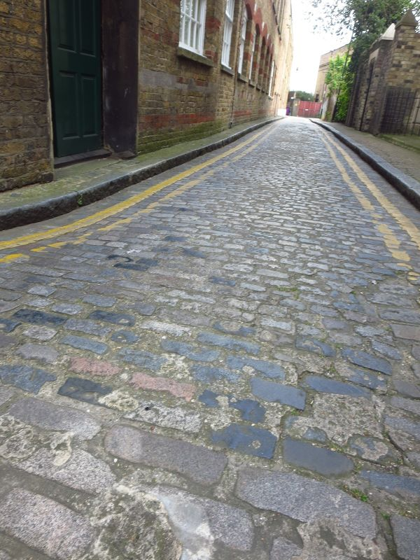 A lot of Cobbled Stone Streets in Wapping
