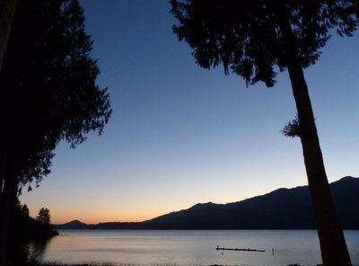 Sunset at Lake Quinault