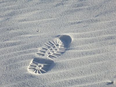 Footprint in the (White) Sands - Alamogordo