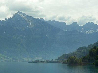 From the train to Sagrans - the Walensee