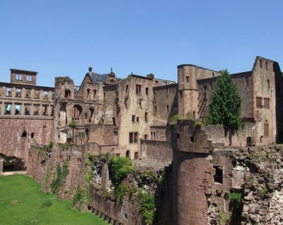 """How to garnish a ruin"" (Mark Twain) - Heidelberg"