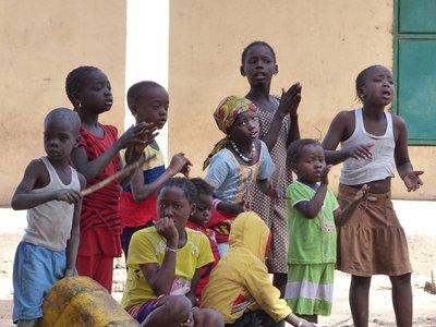 Village children, Albreda, The Gambia