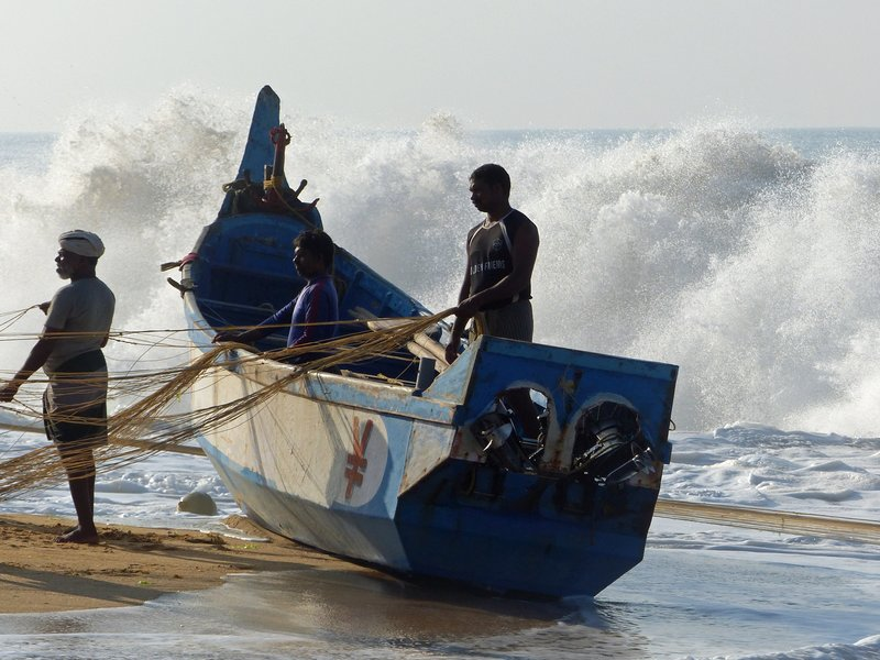 Fishing boat, Chowara beach