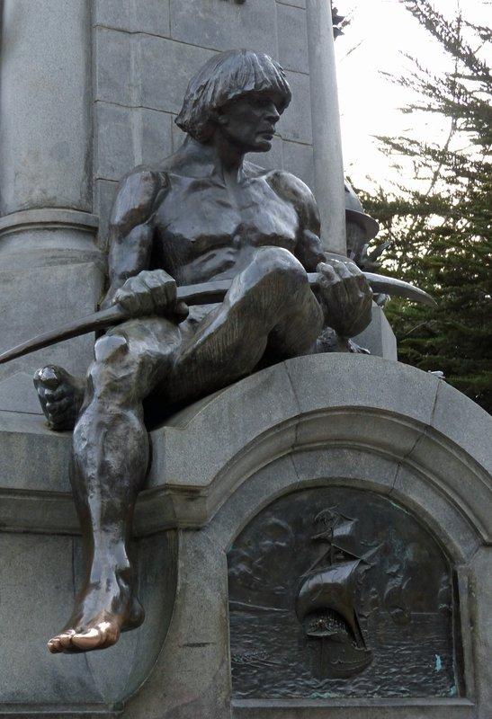 Statue of Magellan, Punta Arenas - detail