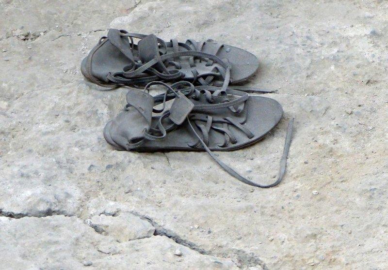 Roman sandels, Cambodunum Archaeological Park