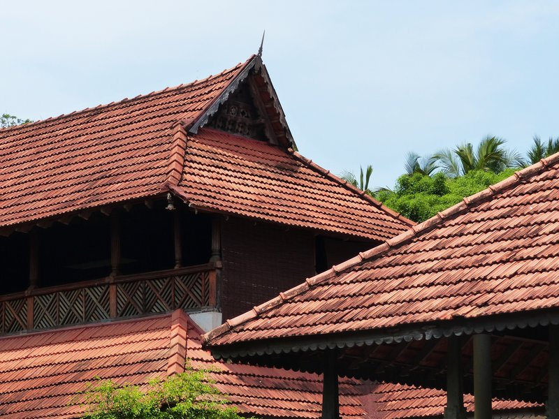 Old roof tops, Travancore Heritage Hotel