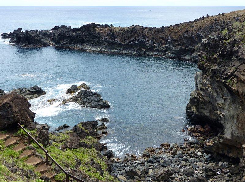Cove at Ana Kai Tangata, Rapa Nui