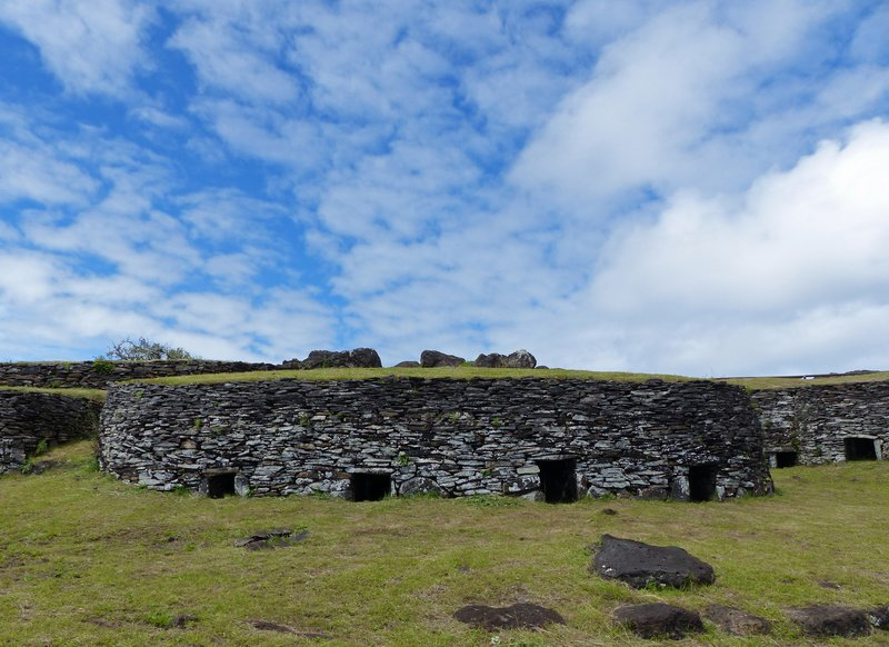 Houses at Orongo, Rapa Nui