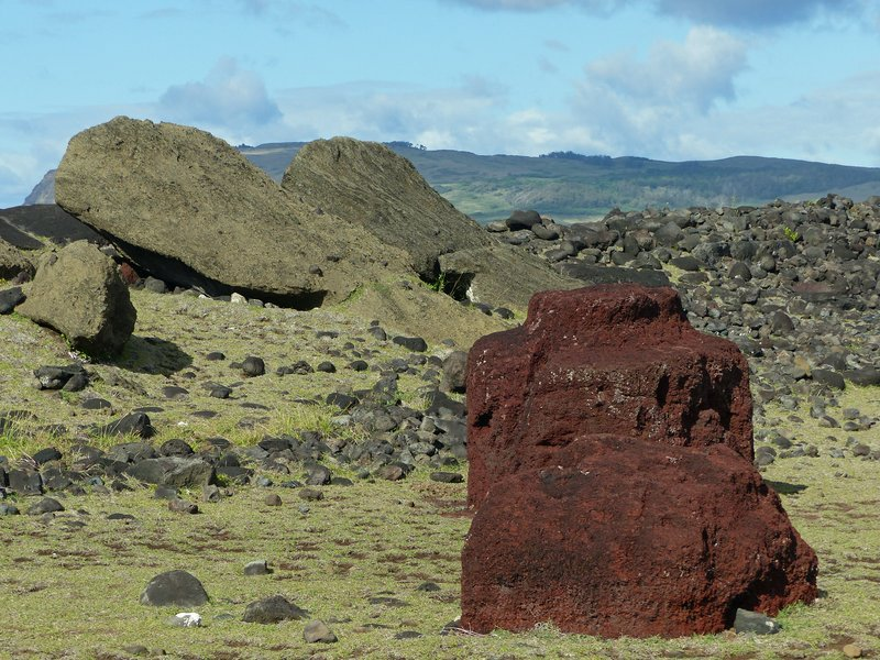 Pukao at Ahu Vaihu, Rapa Nui