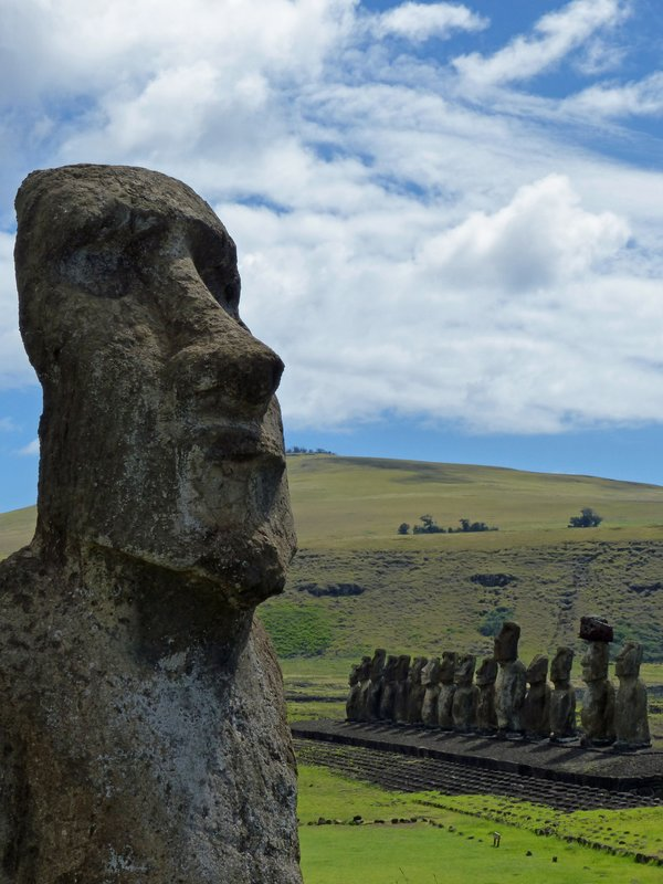 "Ahu Tongariki, Rapa Nui - the ""travelling moai"""