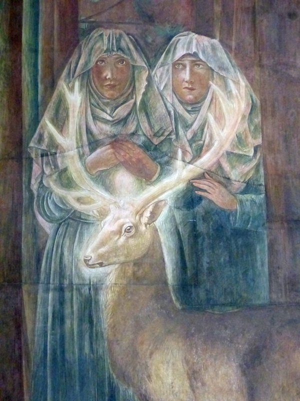 Hildegard and Bertha at the Fraumünster