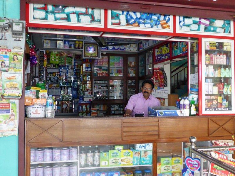 Shopkeeper near Munnar