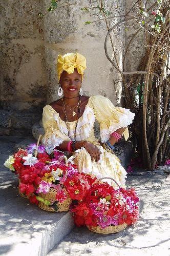 Flower seller in Havana - Cuba
