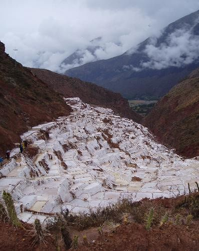 Another view of the salt pans - Cusco