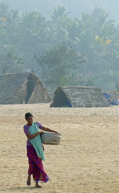 Fish-seller, Chowara beach