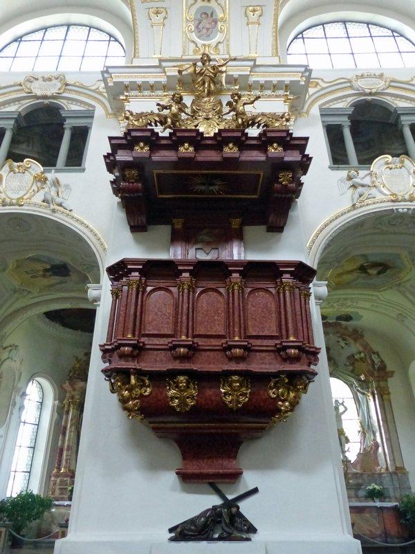 Pulpit, St Lorenz Basilica, Kempten