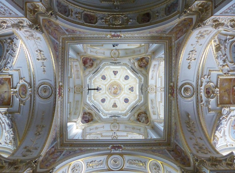 Inside the dome of St Lorenz Basilica, Kempten
