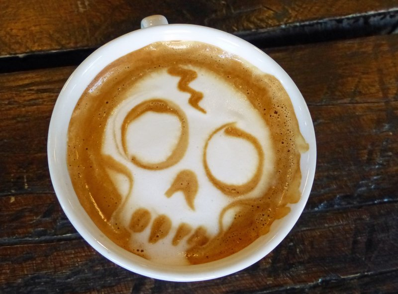Coffee at Burial Grounds, Olympia