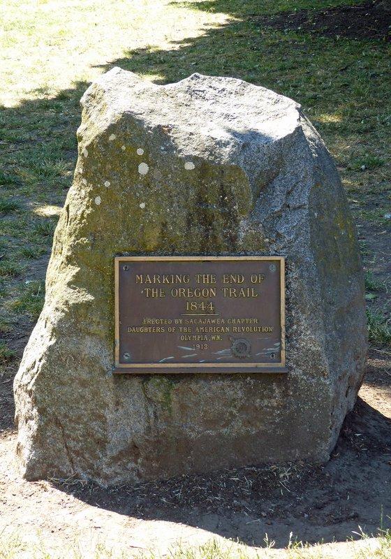 Oregon Trail marker, Olympia