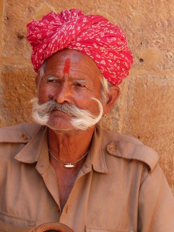 Guard outside the Jain temples - Jaisalmer Fort