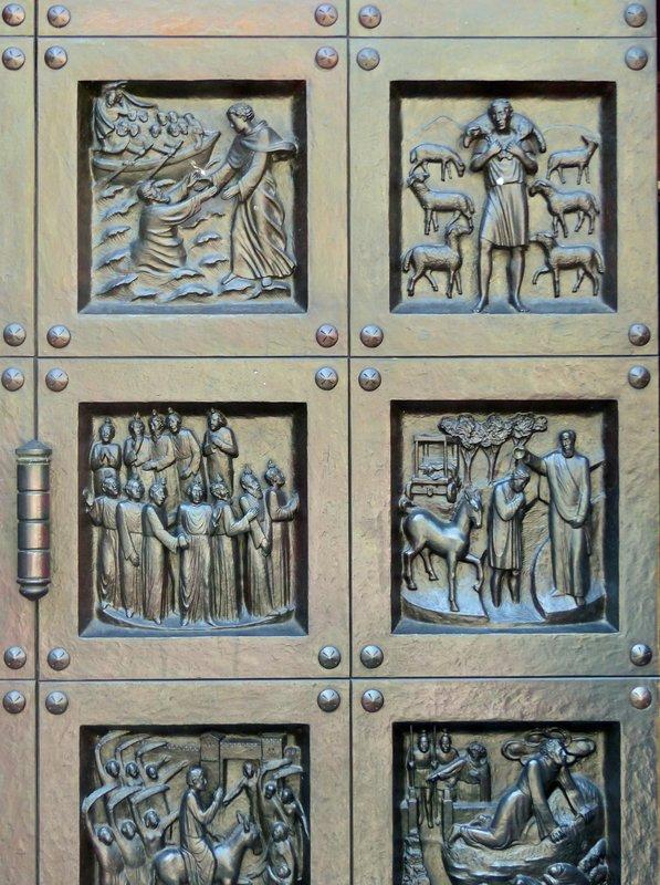 Cathedral door, Grossmünster, Zurich