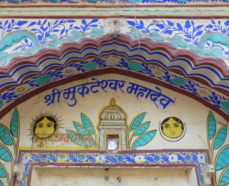 Colourful house decoration in Bundi