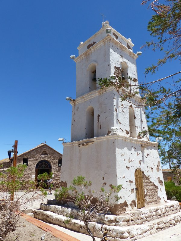 Bell tower of the church, Toconao, Atacama Desert
