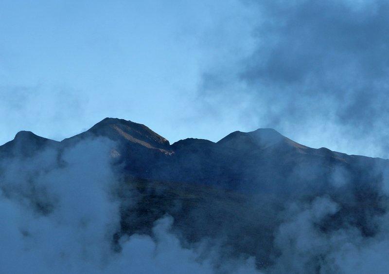 El Tatio geysers at dawn