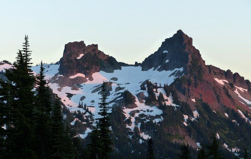 Sunset view from Paradise Inn, Mount Rainier NP