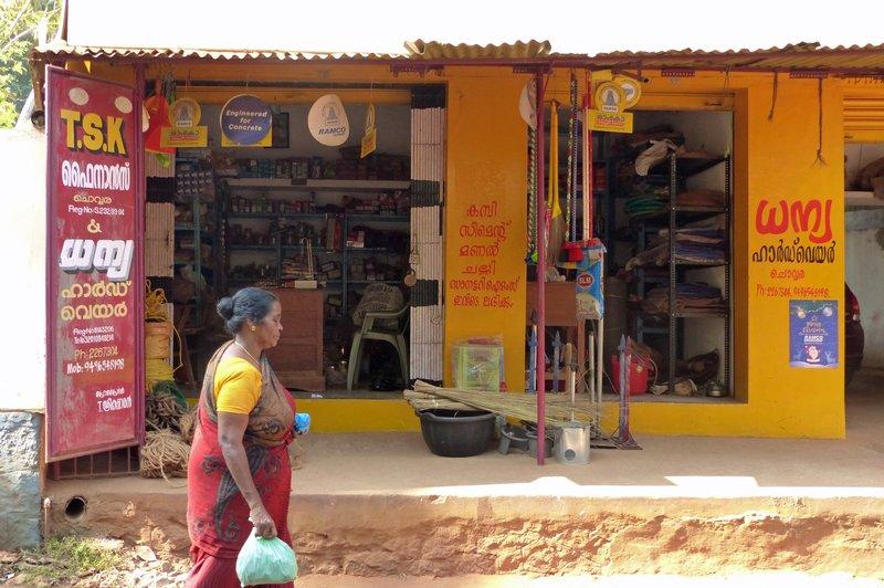 In Chowara village - local shop