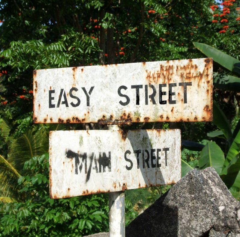 Road sign near Ocho Rios - Jamaica
