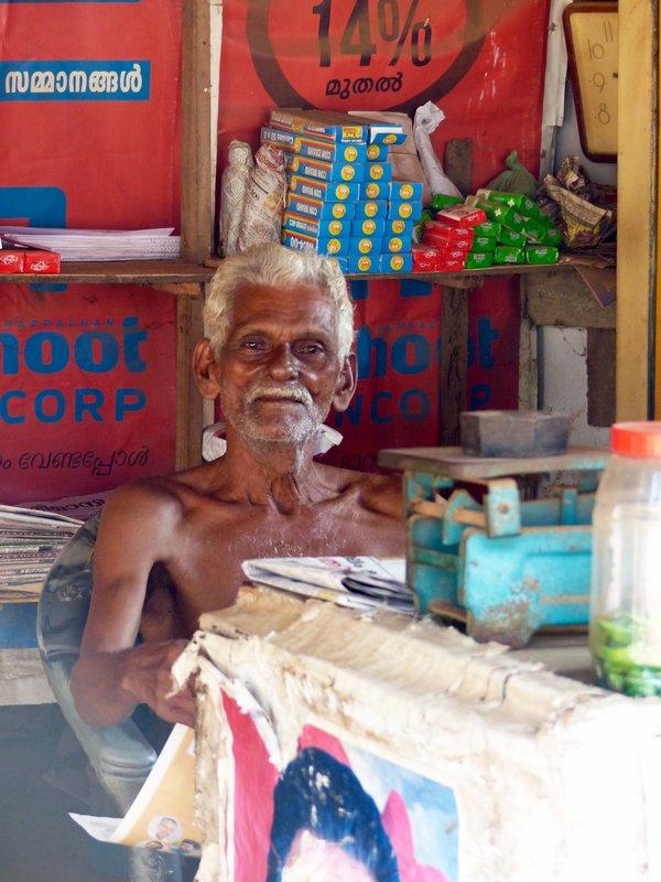 In Chowara village - shopkeeper