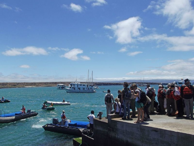 The port on Baltra - Galápagos Islands