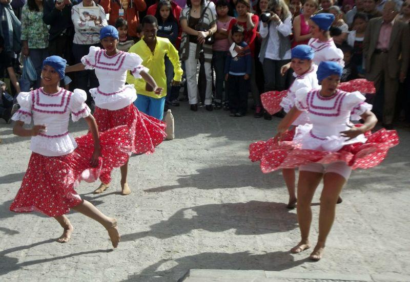 Festival dancers - Cuenca