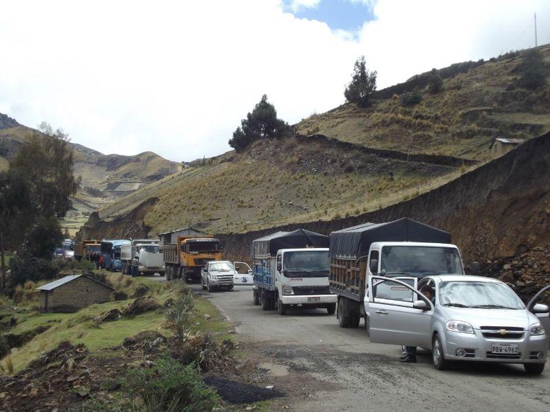 Road block near Quilotoa - Ecuador