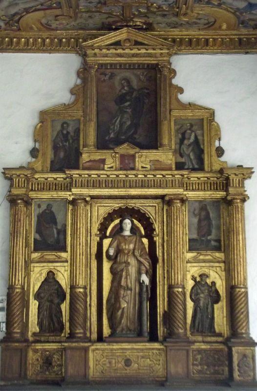 17th century altarpiece, museum at Iglesia San Francisco - Quito