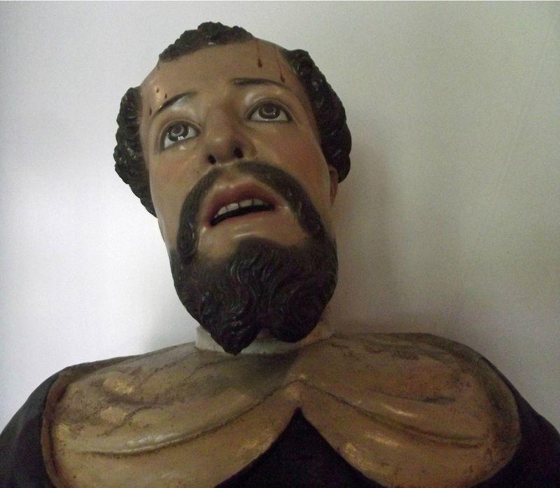 Wooden statue, Santo Domingo - Quito