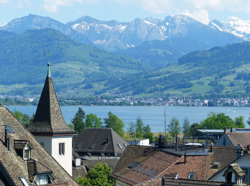 View from the castle, Rapperswil