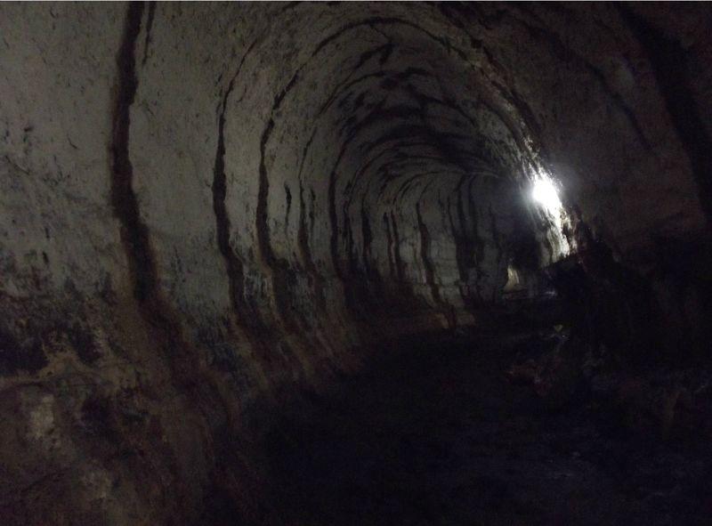 Inside the lava tunnel - Isla Santa Cruz