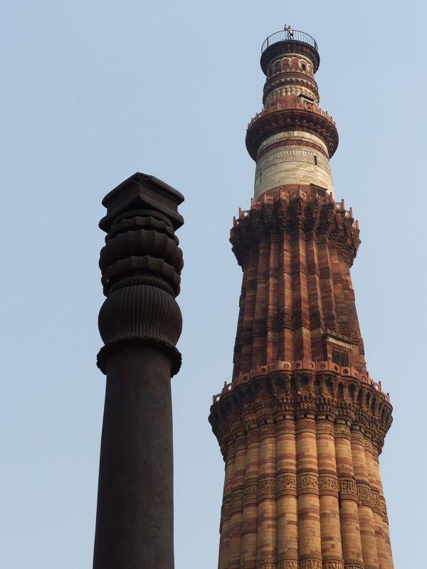 Iron pillar and Qutb Minar - Delhi