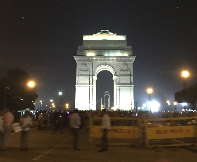India Gate at night - Delhi