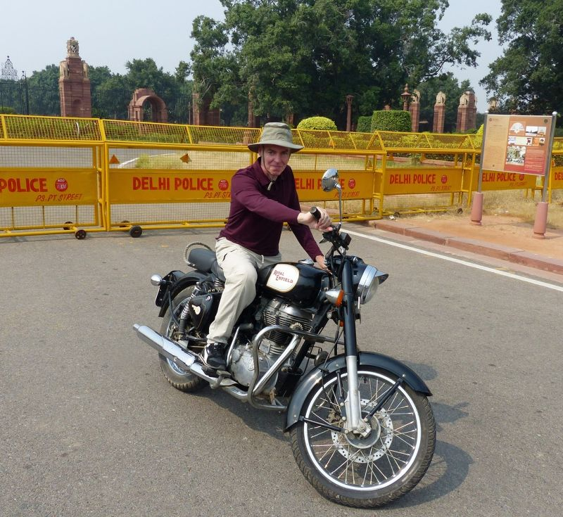 Chris plus Royal Enfield - Delhi