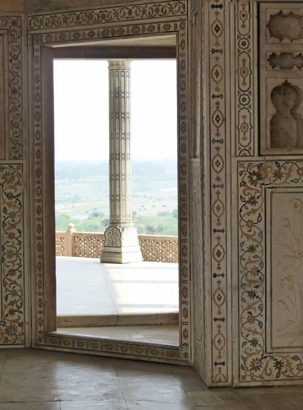 The terrace, Khas Mahal, Agra Fort - Agra