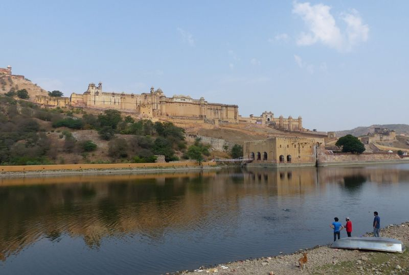 Amber Fort and Maota Lake - Amer