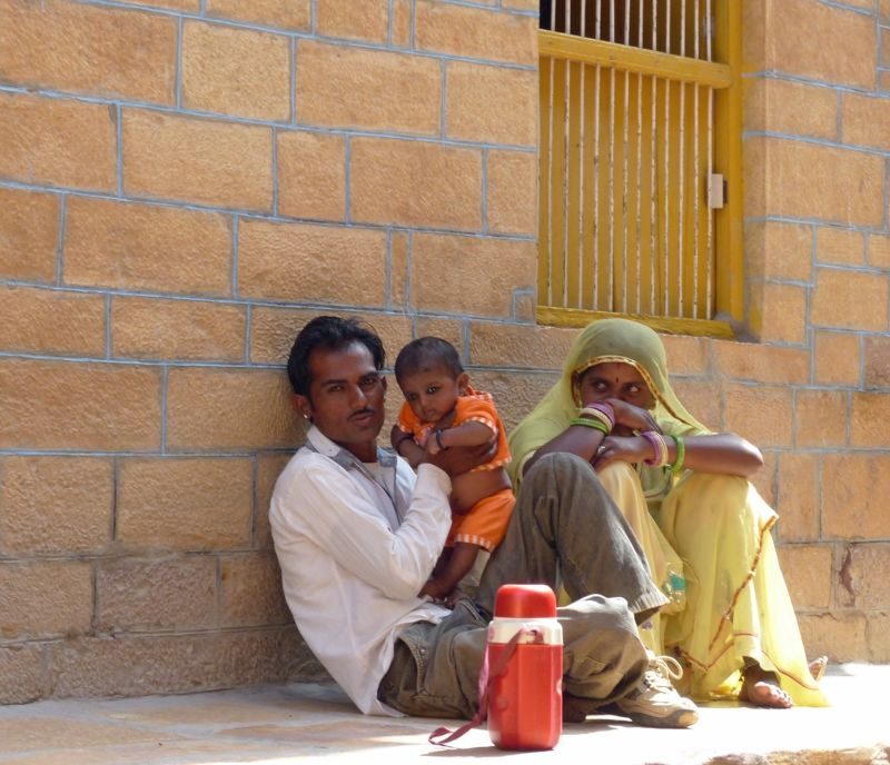 Family in the fort - Jaisalmer