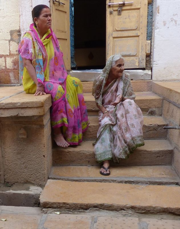 Local women in the fort - Jaisalmer